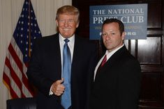 Barry Donadio and Donald Trump at the NationalPress Club on May 27th 2014