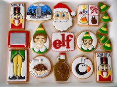 "Elf Cookies (the Movie Elf) ""Elf"" Movie Themed Christmas Party , Family Christmas Countdown Party Series: Elf Movie Theme Night""Elf"" Movie Themed Christmas Party, Crunch Elf Cookies Elf Christmas Decorations, Cute Christmas Cookies, Xmas Cookies, Cute Cookies, Christmas Elf, Christmas Movies, Christmas Baking, Christmas Treats, Christmas Humor"