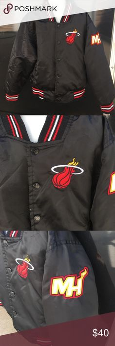 Kids size 4 Miami Heat Team Jacket Miami Heat team jacket in perfect condition. EVERYTHING AUTHENTIC NBA Jackets & Coats