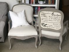 Driftwood Armchairs #DIY #furniturepaint #paintedfurniture #chalkpaint #homedecor #armchair #reupholster #brown #driftwood #countrychicpaint - blog.countrychicpaint.com