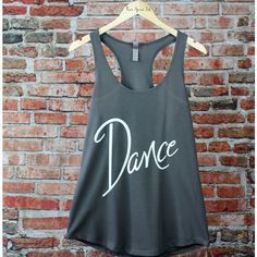 Dance Tank Top Dance Shirt Dance Enthusiast Gift Exercise Tank... ($20) ❤ liked on Polyvore featuring activewear, activewear tops, tanks, tops, white, women's clothing, neon pink shirt, white checkered shirt, checkered pattern shirt and white shirts