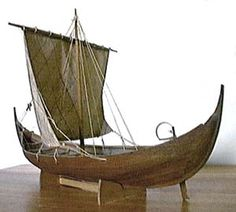 This model looks about right for Barnabas' small boat Loki.  Google Image Result for http://www.lookoutnow.com/3d/images/vik-aft5.jpg