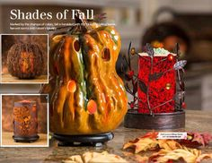 Fall Winter looks gorgeous! bring home your favorite Simmering Lights shade, base and liner and fragrance your home while decorating