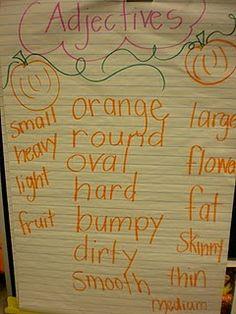 Pumpkin adjectives? Love it.