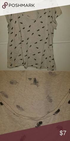 Gap feather top Gap feather top size xl. Small spot on top is shown in 2nd picture. Tops Blouses