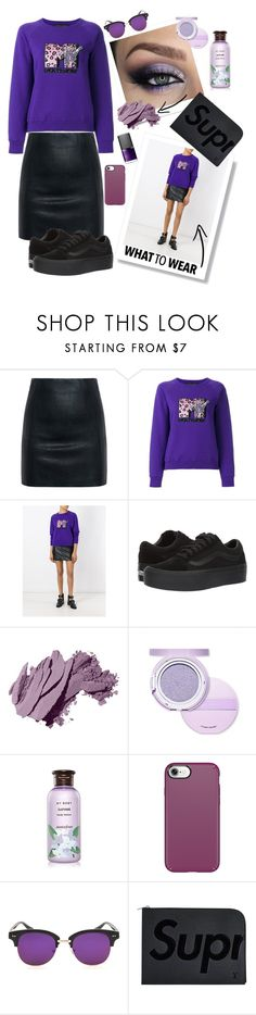 """""""Punky Purple"""" by nadyabyne ❤ liked on Polyvore featuring McQ by Alexander McQueen, Marc Jacobs, Vans, Bobbi Brown Cosmetics, Etude House, Innisfree, Speck, Louis Vuitton and NARS Cosmetics"""
