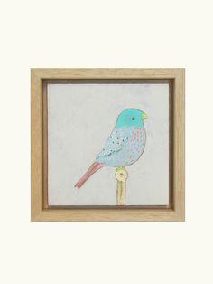 PAINTED BIRDS   12cm x 12cm   €65,- by Studio Sjoesjoe