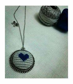 Crossstitch, Pendant Necklace, Jewelry, Cross Stitch, Punto De Cruz, Bijoux, Cross Stitches, Jewlery, Jewels