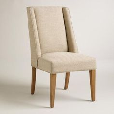 One of my favorite discoveries at WorldMarket.com: Khaki Herringbone Lawford Dining Chairs