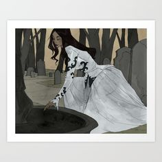 Aquarius Art Print by Abigail Larson. Worldwide shipping available at Society6.com. Just one of millions of high quality products available.
