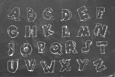 Cracked font on chalkboard by hlivnyk on Creative Market