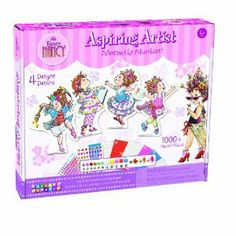 Fancy Nancy Sticky Mosaics Aspiring Artist by The Orb Factory. $16.74. Complete 4 Fancy templates with the ease of Sticky Mosaics. The award winning line of Sticky Mosaic craft kits will delight all ages and all skill levels. Great for play dates and birthday parties. 4 fancy templates, 4 stands, 4 wall hangers, 1000+ sparkling tiles and jewel pieces. From the Manufacturer                Dance, sing and paint with Fancy Nancy. Peel, stick, match numbers to suit your Fancy. It's t...