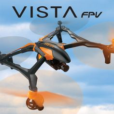 Dromida Vista 251 mm FPV RTF. The Vista FPV uses first-person-view for aerial adventures! It's equipped with a smartphone controlled Tactic DroneView Wi-Fi HD mini camera that captures stills and 720p video in real time. One cool, complete camera drone!