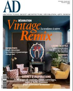 Buy a subscription of architectural digest France magazine from the world's largest online Magazine cafe store in USA. Architectural Digest, Embroidered Cushions, Publication Design, Vintage Design, Architecture, Tricks, Magazine, France, Ads