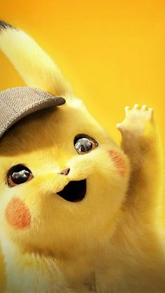 Say helloww to pikachu Cute Pokemon Wallpaper, Cartoon Wallpaper Iphone, Cute Disney Wallpaper, Cute Cartoon Wallpapers, Hd Wallpaper, Perfect Wallpaper, Wallpaper Ideas, Cute Cartoon Pictures, Baby Animals Pictures