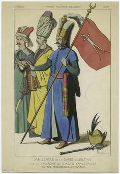 From New York Public Library Digital Collections. Ottoman Empire, New York Public Library, Moorish, Ancient Civilizations, Golden Age, Renaissance, Aurora Sleeping Beauty, Military, Costumes
