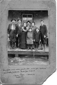 My geat grandparents, Capt.Wm.Anderson (devil anse and Levicy) Hatfield.  Elizabeth (Betty) Hatfield Caldwell is their 7th child.