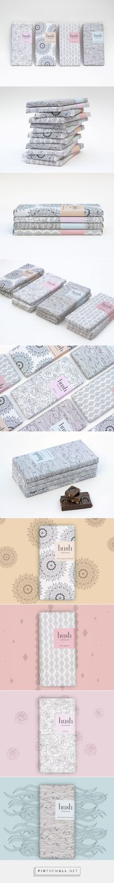 Hush Chocolate Packaging of the World - Creative Package Design Gallery - http://www.packagingoftheworld.com/2016/01/hush-chocolate.html