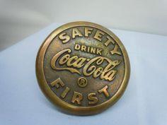 Brass Coca Cola Street Marker Patent Date 4/11/33