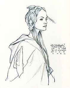 Star Wars Padme Amidala Picnic Dress Headdress - Original Concept Art