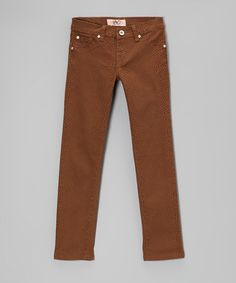 Take a look at this Camel Twill Pants by Lavo Collections on #zulily today!