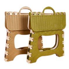 De plástico Plegable 6 Tipo Espesar Paso Niño Portable Heces de color al azar 25*18*20 cm
