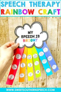 Rainbow Craft For Speech Therapy - Sweet Southern Speech