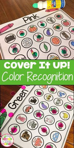 Have you ever needed a quick warm-up activity to use during Guided Math while you are getting the rest of the class settled into their activity? Well look no further, these cover up games are perfect to have your students immediately get started learning while you on your way to them. No more wasted time while they wait on you!  This pack is to help students with identifying and recognizing colors. There are 5 different sheets for each of the 11 colors so each student at your group can have a di
