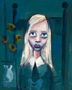 Charles Blackman Prelude to Alice , verso: seated portrait x 74 cm) Australian Painting, Australian Artists, Alice In Wonderland Series, Little Girl Lost, Fine Art Auctions, Modern Artists, Aboriginal Art, Life Drawing, Amazing Art