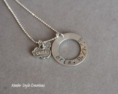 Hand Stamped adoption Gotcha day necklace.