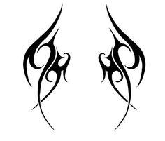 Tribal Wings Version by navCrash on DeviantArt Tattoo Flash Art, Tatoo Art, Pretty Tattoos, Cute Tattoos, Tatoos, Mini Tattoos, Body Art Tattoos, Tattoo Sketches, Tattoo Drawings