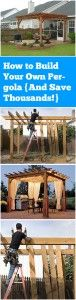 Pergolas are a great addition to any backyard, especially in the summer months when it feels so good to be outside! However, it also costs lots of money to have a professional contractor come and build a pergola. Here is a step-by-step guide on how you can build your very own pergola and save thousands in the process!
