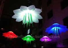 Wedding decoration inflatable flower with led inside. 1.5m size with built-in blower, can hang it on ceiling or just put on ground for decoration