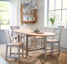 IKEA GAMLEBY traditional style dining table and chairs