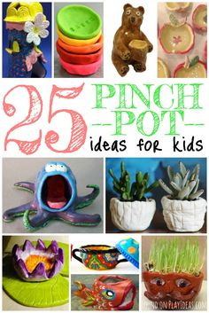 Easy to follow pinch pot projects for kids.