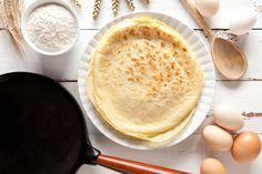 Hrnčekové palacinky | Recepty.sk Us Foods, Brown Sugar, Hummus, Tart, Artisan, Baking, Ethnic Recipes, Sugar Pie, Custard Filling