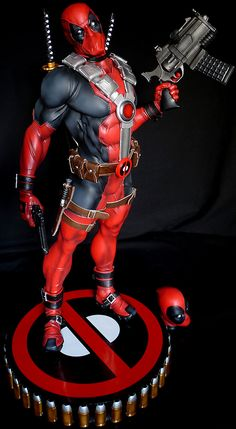 #Deadpool #Comic #Statue. By: Sideshow. I Love deadpool for his comedy, so if your looking for more deadpool, try out the fan art we have collected on our board called (Deadpool) and Deadpool2.