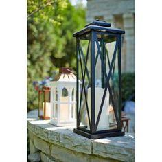 20 in. Metal Lantern in Black-14032M - The Home Depot