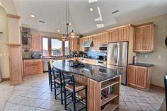 Love this custom kitchen! It's perfect for accommodating a large family - The Good Life OL4