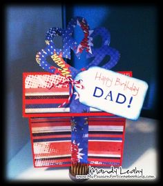 Happy Birthday Present Card using the CTMH Art Philosophy Cricut Cartridge {by Mandy Leahy}