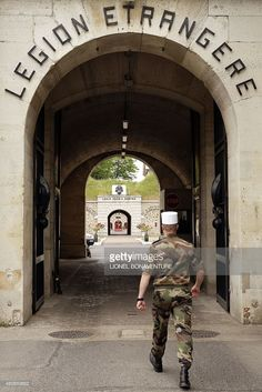 MOUTOT - A picture taken on June 22, 2015 shows the entrance of the French Foreign Legion recruitment center in Fontenay-sous-bois, outside Paris. Thousands of potential recruits knock on the door of the French Foreign Legion every year, hoping to joina 6,800-strong force that has fought for France for close to two centuries in conflicts the world over.
