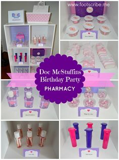 Doc McStuffins Party Favor Pharmacy