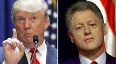 Donald Trump, precandidato republicano a la Presidencia de Estados Unidos, afirmó que Bill Clinton tiene una terrible historial de abuso de mujeres. January 24, 2016.
