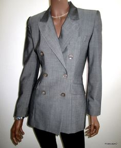 VERTIGO Paris Blazer Suit Jacket STUNNING Expertly Tailored CLASSY  S 4 6 34 40