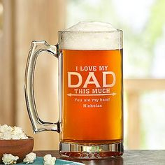 I Love My Dad Oversized Beer Mug | Personal Creations