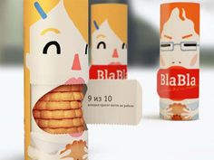 First is a company called Bla Bla. I found these interesting because of the images on the packaging. I also found it interesting how you open it to get to the cookies. Its a fun way to show what your product by showing the character on the box with a mouth full of cookies.