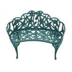 Lily Garden Cast Aluminum Patio Bench