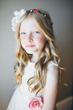 A sweet flower crown for the flower girl: http://www.stylemepretty.com/2015/11/09/dancing-with-stars-pro-lindsay-arnolds-utah-wedding/   Photography: Jessica Janae - http://www.jessicajanaephotography.com/