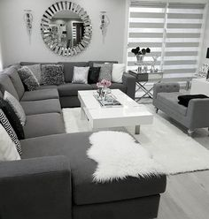 There are many elegant living room ideas that you might decide to get applied in your living room design. Because you have landed here then most probably you want Elegant living room answer. Living Room Decor Cozy, Elegant Living Room, Living Room Grey, Home Living Room, Interior Design Living Room, Living Room Designs, Living Room Furniture, Modern Living, Black White And Grey Living Room