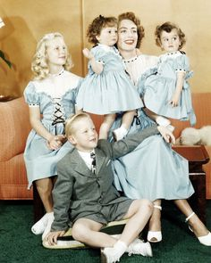 Joan Crawford and her children